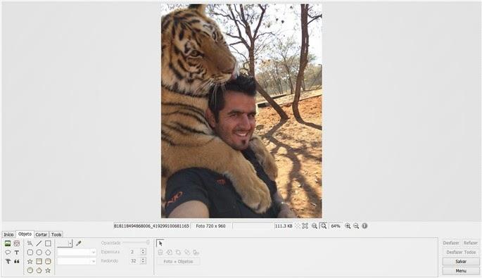 tela de edição photoscape