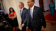 Bush coming back to the white House to help obama !
