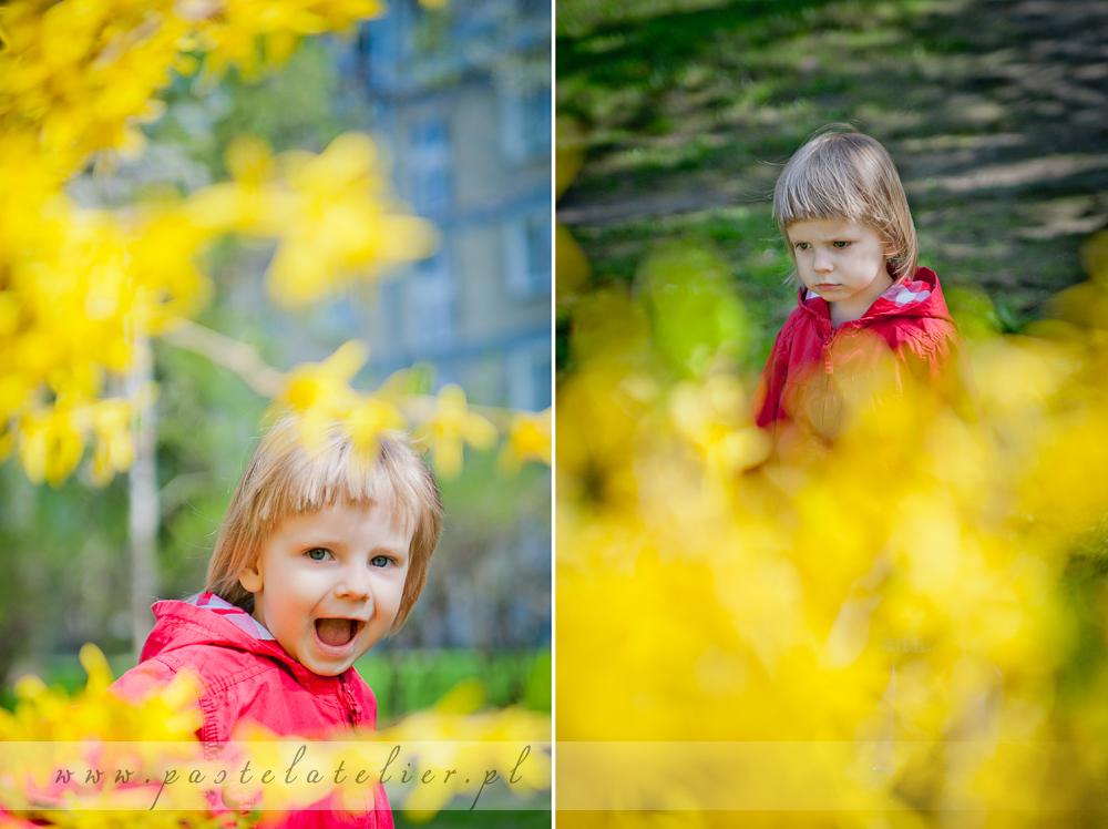 dziecięca sesja zdjęciowa plenerowa na Saskiej Kępie