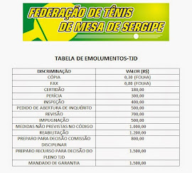 Tabela Emolumentos-TJD