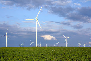 wind turbine, three blade wind turbine, green turbine
