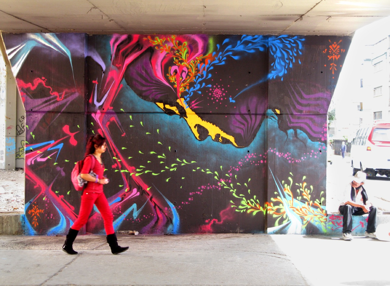 Stinkfish new mural in bogota colombia streetartnews for Craft stores columbia sc