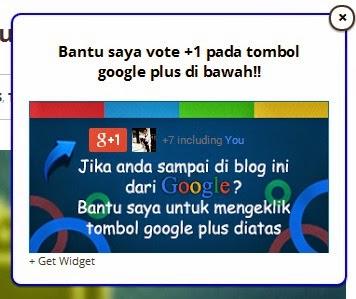 Cara Mudah Memasang Widget Google Plus Melayang di Blog