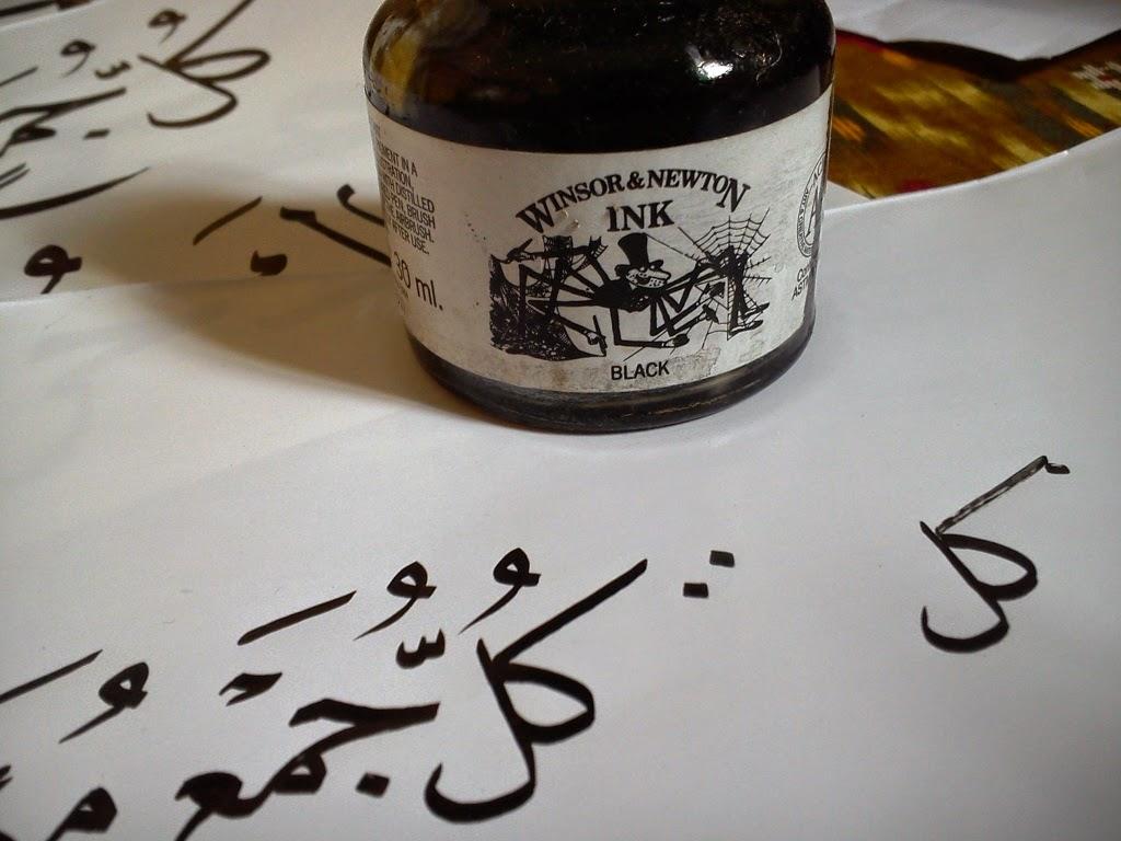 tinta kaligrafi merk Winsor