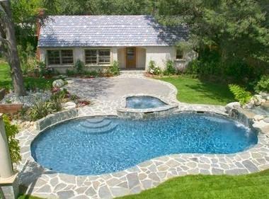 Fotos de piscinas frentes de casas con piscina - Patios de casas modernas ...