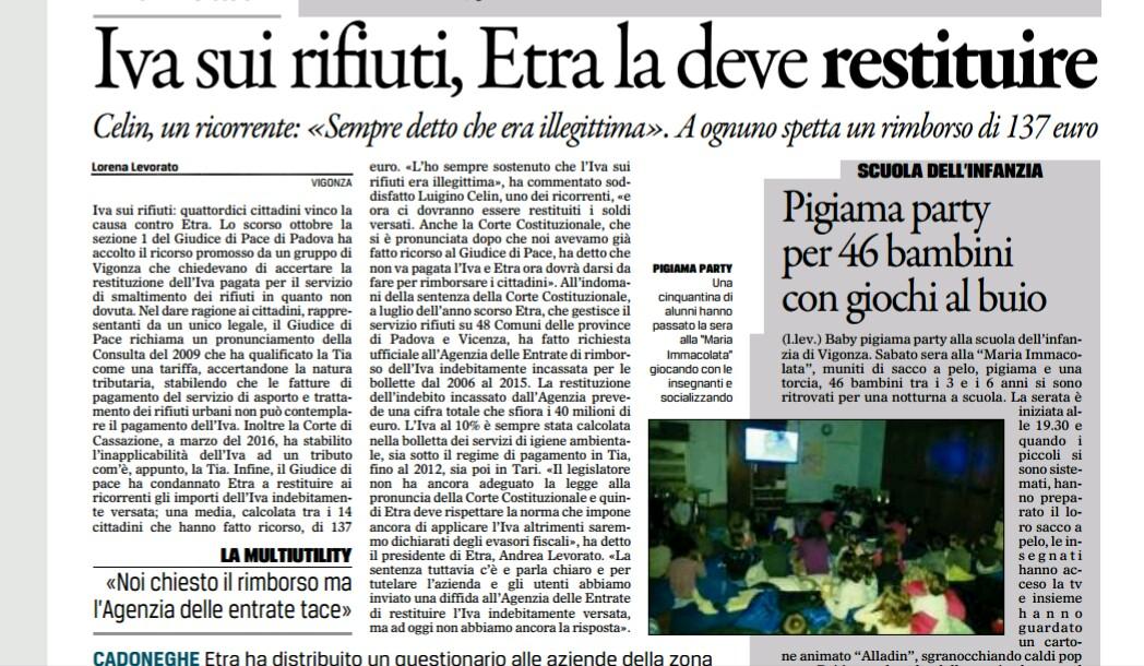 Movimento cinque stelle a mestrino rimborsi iva sui - Iva sui mobili 2017 ...
