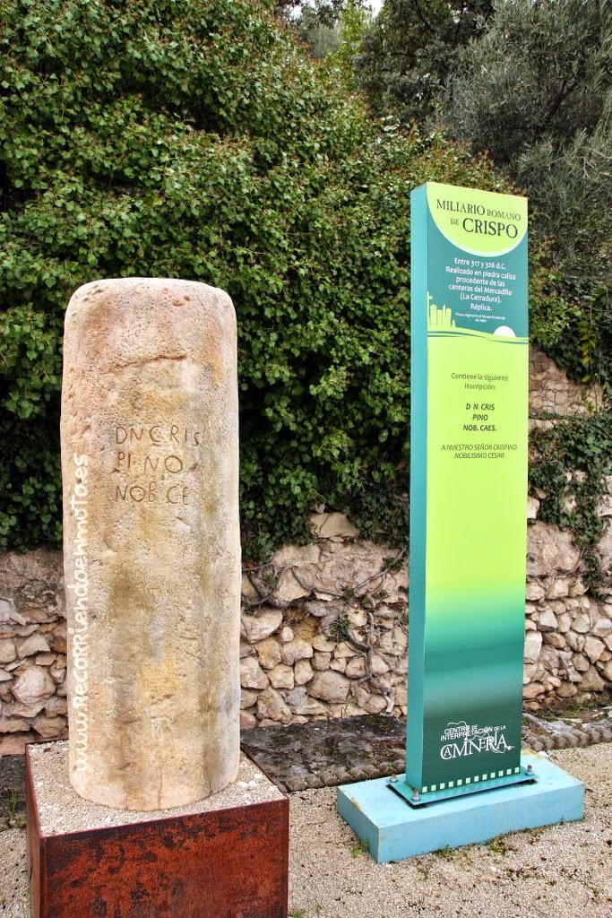 Miliario romano de CRISPO. Entre 317 y 326 d.C.