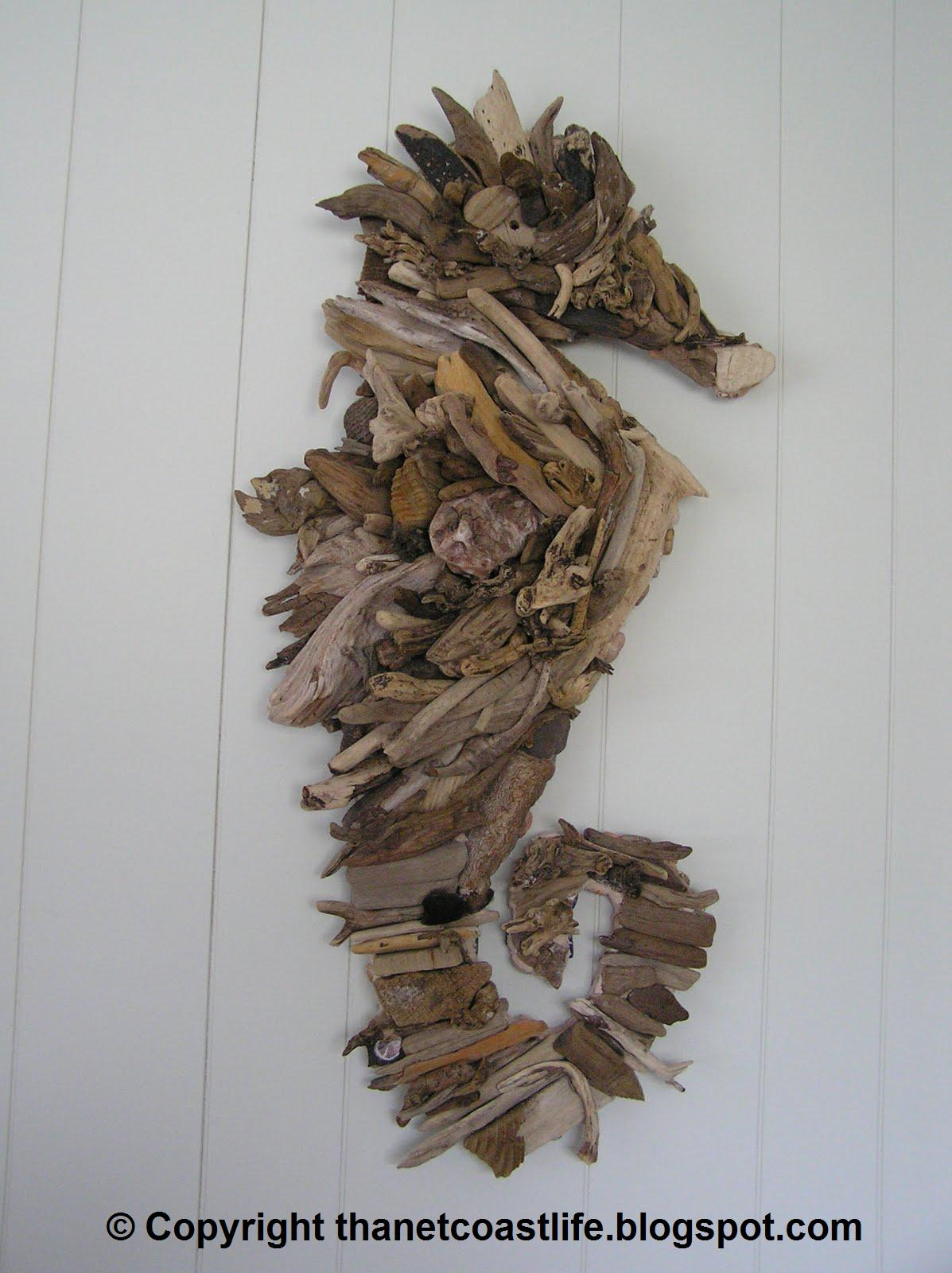 Scribbles beachcombing art for Driftwood crafts