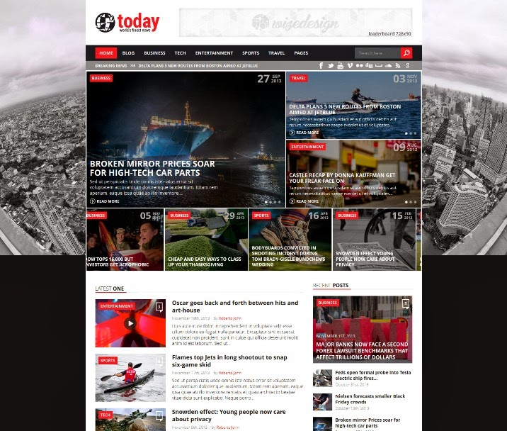 Today - Info News & Magazine WordPress Theme