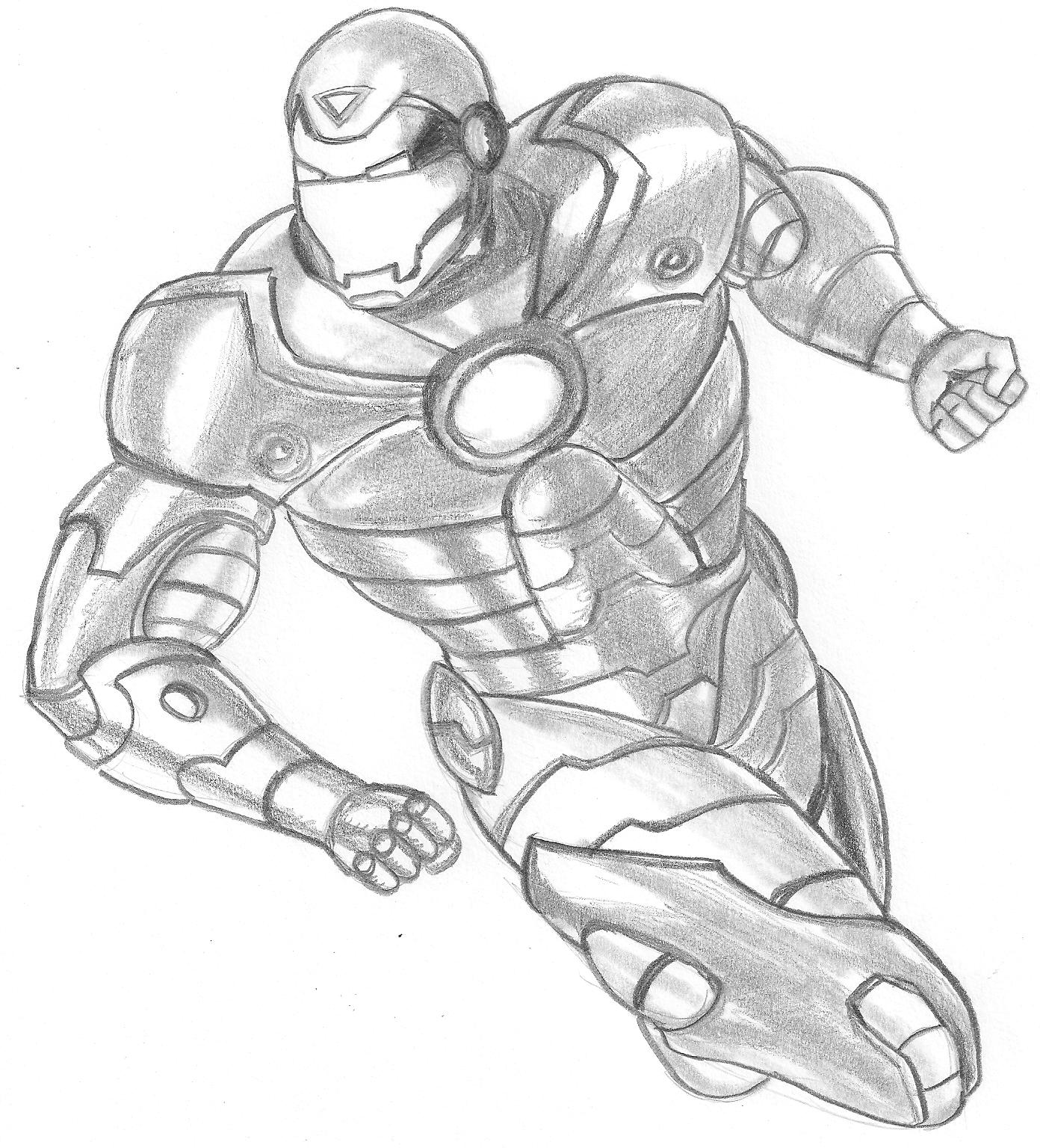 Desenhos Para Colorir Como surgiu homem de ferro   para copiar