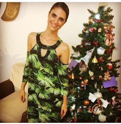 cris flores vestido estampado natal