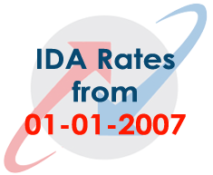 BSNL Employees Industrial Dearness Allowance Rates from 01-01-2007