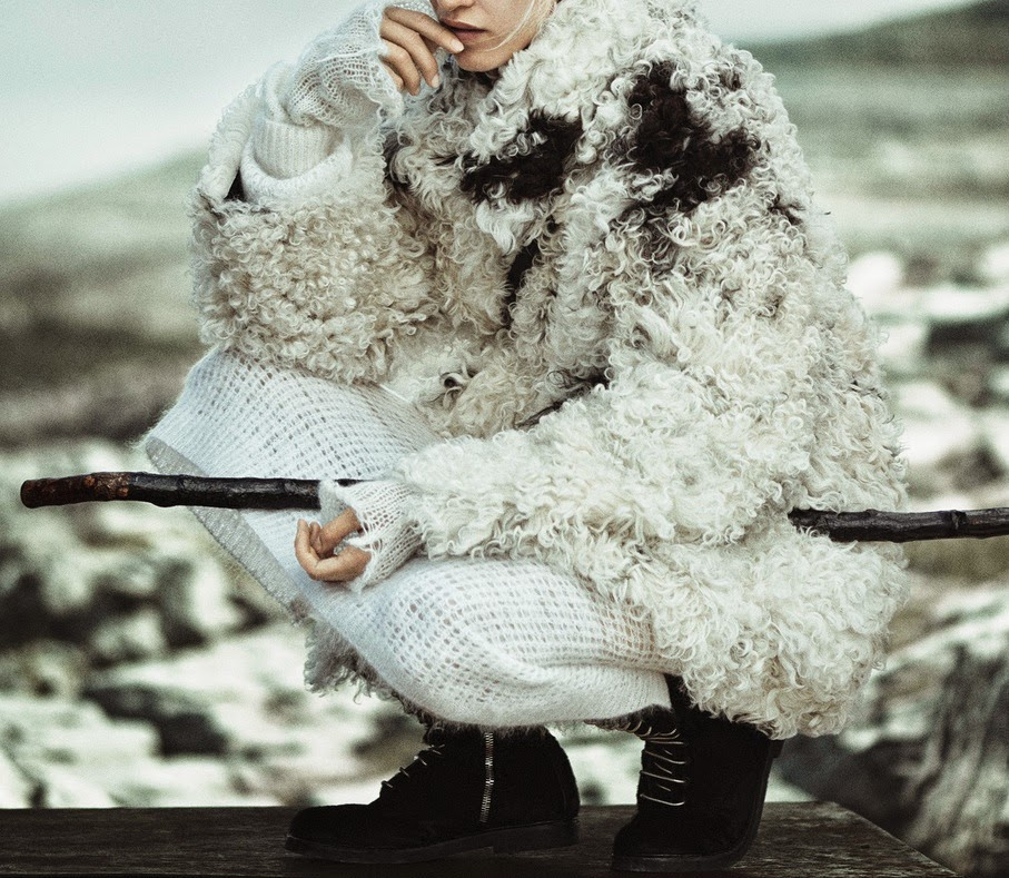 Aymeline Valade By Boo George For Vogue Japan January 2015