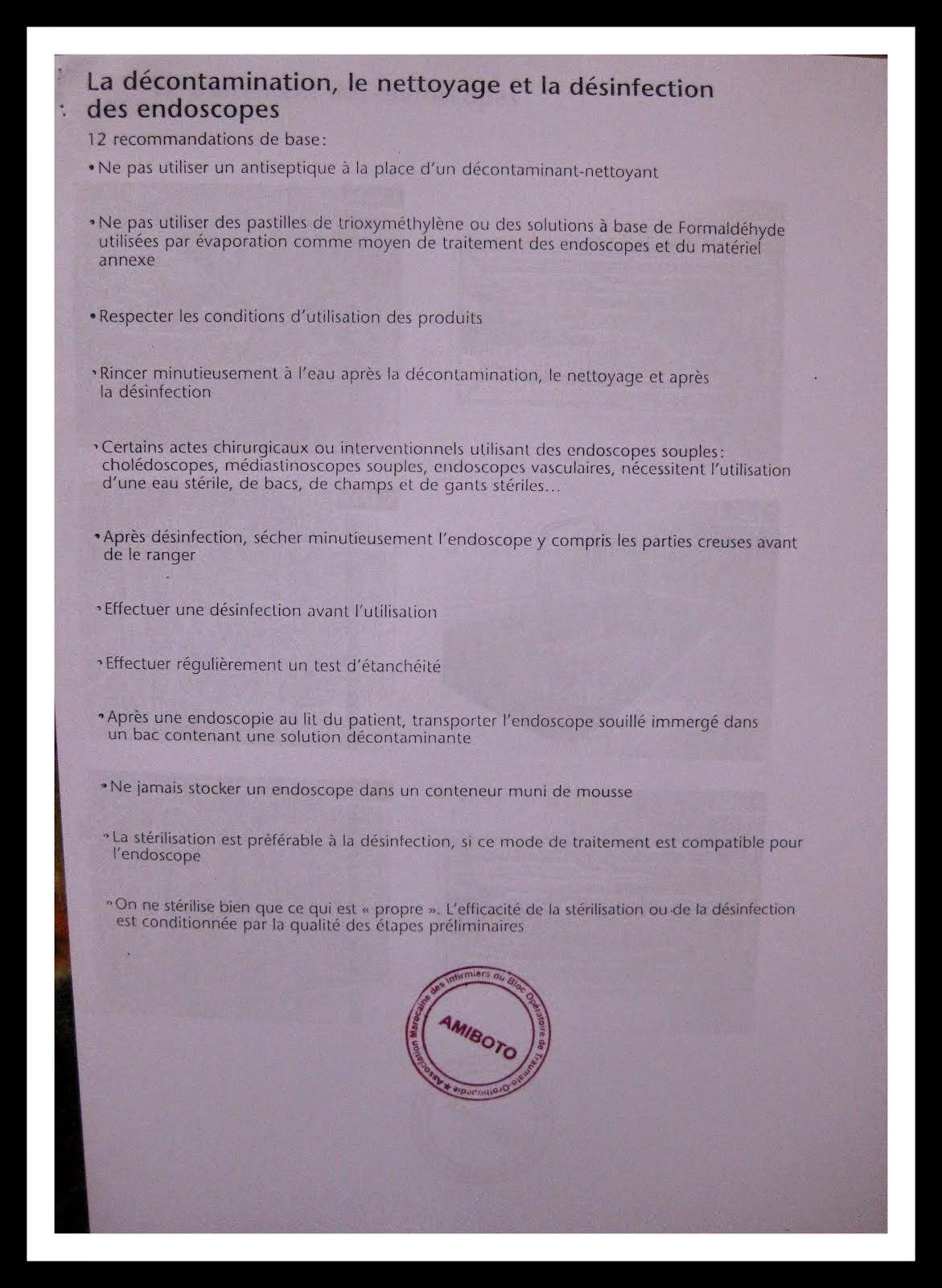 PROTOCOLE DE TRAITEMENT DES ENDOSCOPIES
