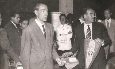 Esteban Pedrol con Joaquim Buxó Dulce de Abaigar en 1951