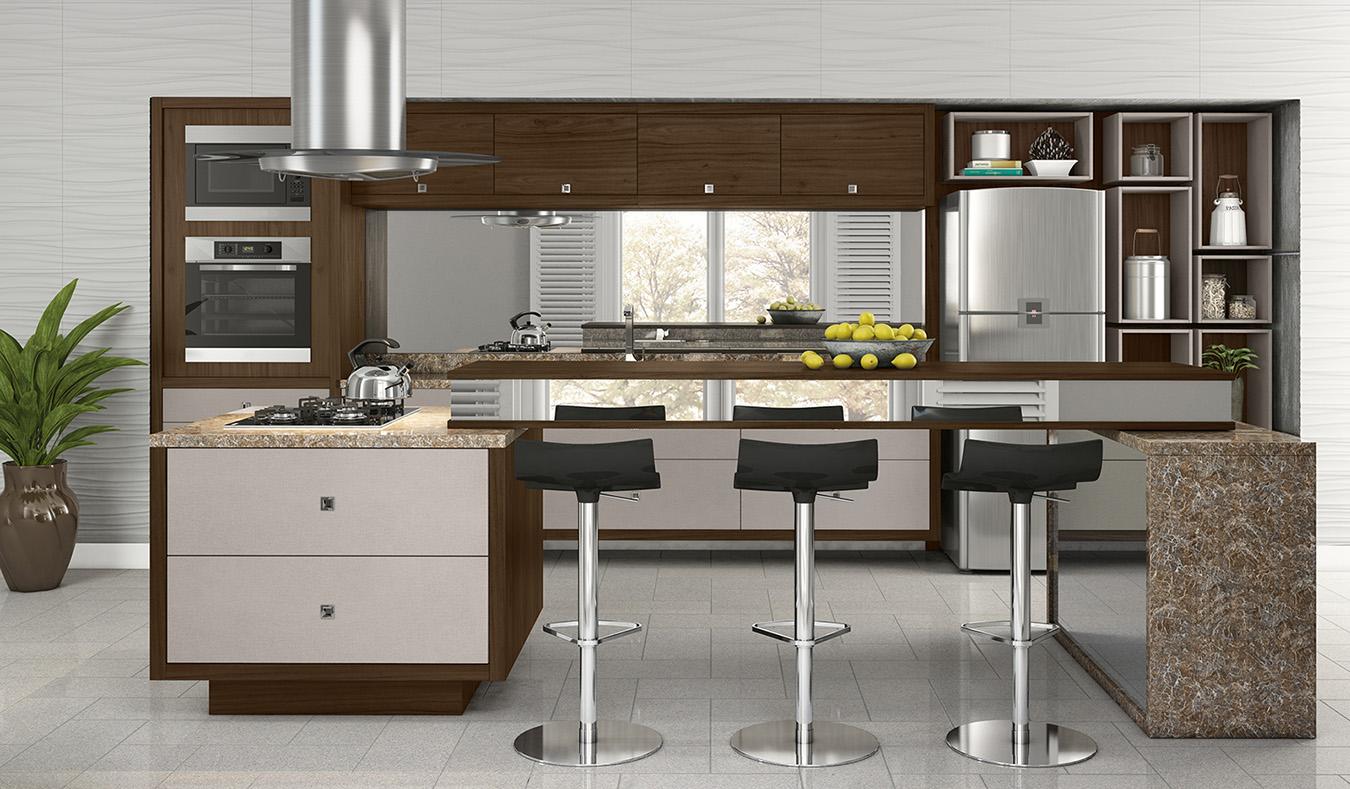 Cozinha Conceito Aberto Cozinha Planejada Com Ilha Americana