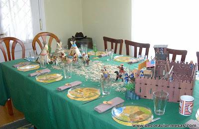decoracionm mesa cumpleaños vaqueros