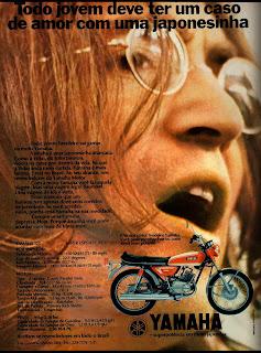 propaganda moto Yamaha - 1971
