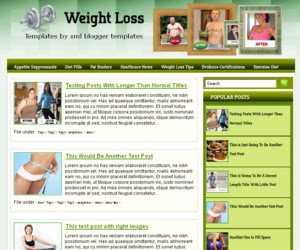 Weight Loss Blogger Template