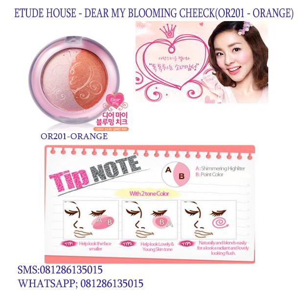 oheaven blush on korea etude house dear my blooming cheeck or201 orange. Black Bedroom Furniture Sets. Home Design Ideas