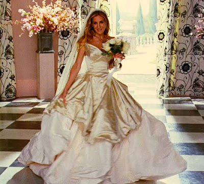 vivienne westwood wedding dress sex and the city movie. The stunning bridal outfit is