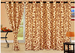 Buy Cortina Ivory Eyelet Window Curtains (Set of 2) – 5 Ft at Rs.333