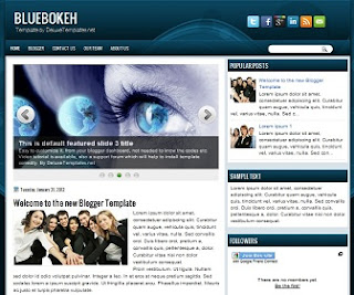 BlackAbstract Blogger Template