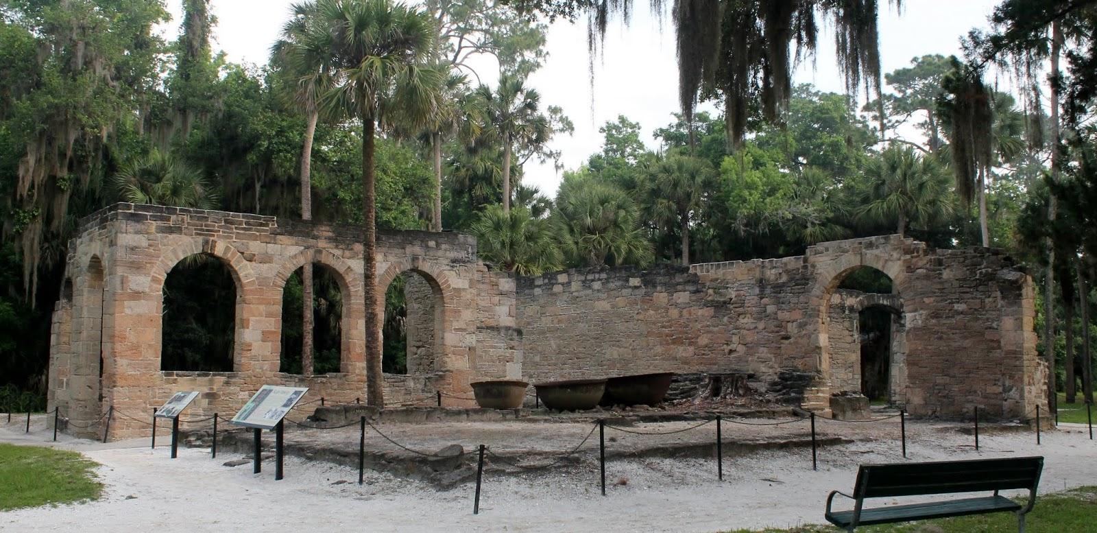 Ruinas del ingenio azucarero Cruger DePeyster en Nueva Smyrna