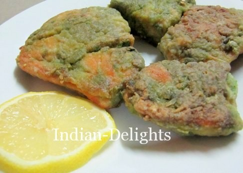 Salmon fry in Green masala