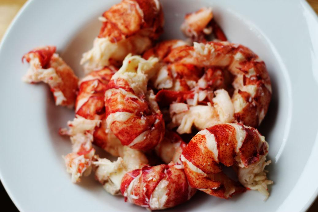 Lone Stars and Stripes: creamy lobster and shrimp enchiladas
