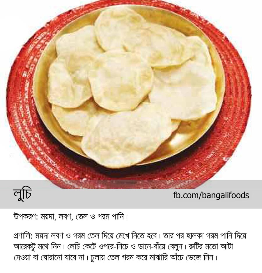 Bangali foods puri and luchi recipe in bangla puri and luchi most common and traditional snack food to every bengali forumfinder Image collections