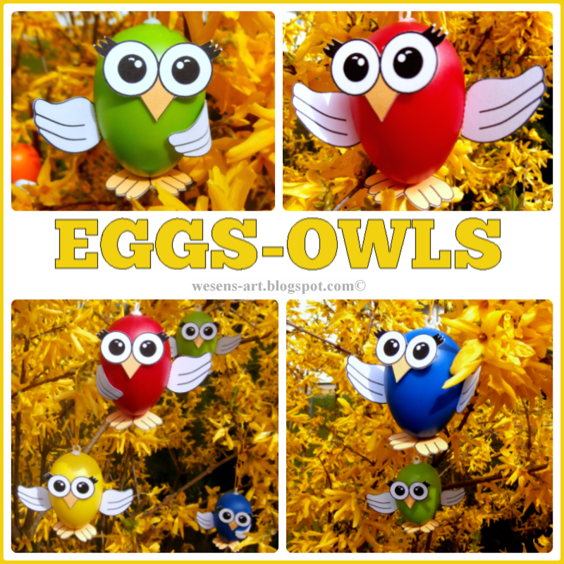Eggs Owls  wesens-art.blogspot.com
