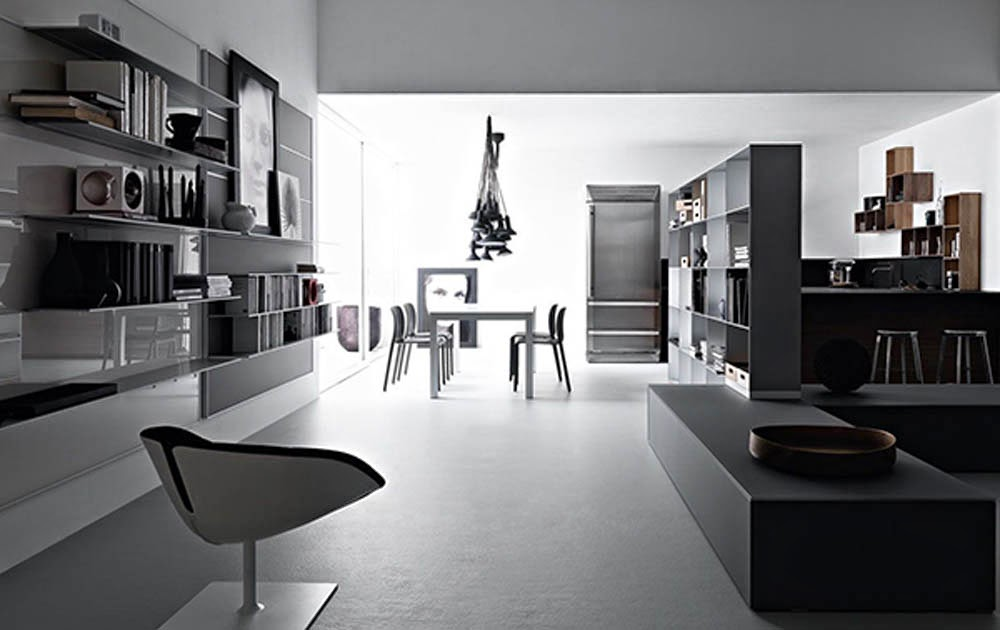 Amazing Open Space Living Room Designs Valcucine