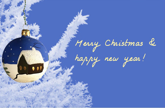 happy christmas and new year christmas card greetings