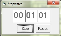 Stopwatch using timer control in vb6