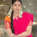 Sangavi in Pink Half Saree Cute Photos
