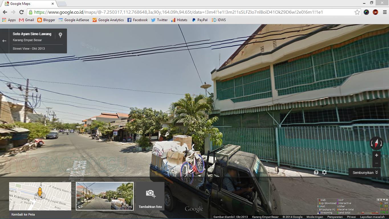 Tampilan Google Street View