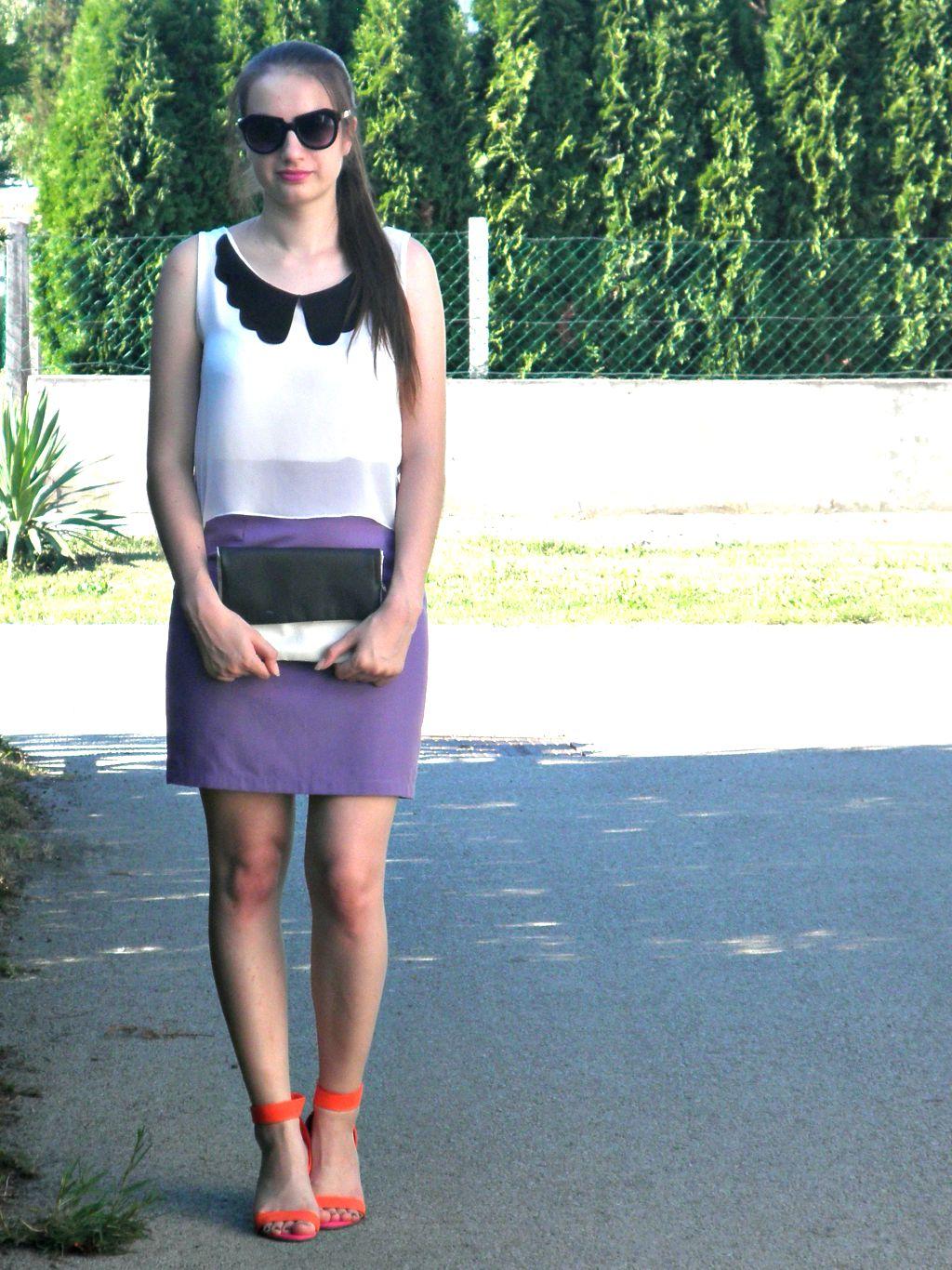 summer outfit, ootd,  skirt, top, heels