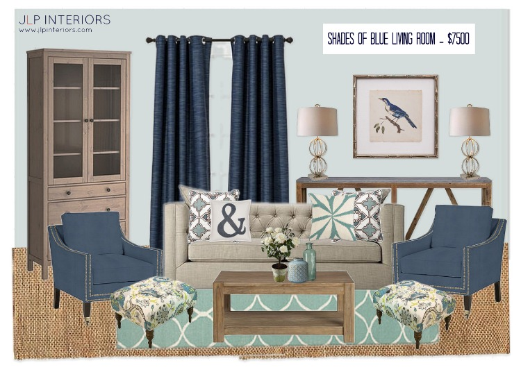home with baxter mood board monday shades of blue living room