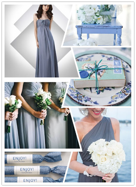 blue and grey winter wedding palette