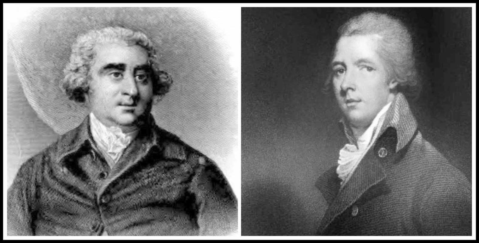 Left: Charles James Fox from The Historical and Posthumous Memoirs   of Sir Nathaniel Wraxall (1884)  Right: William Pitt the Younger fromMemoirs of George IV by R Huish (1830)