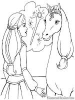 Halaman Mewarnai Gambar Barbie And The Magic Pegasus
