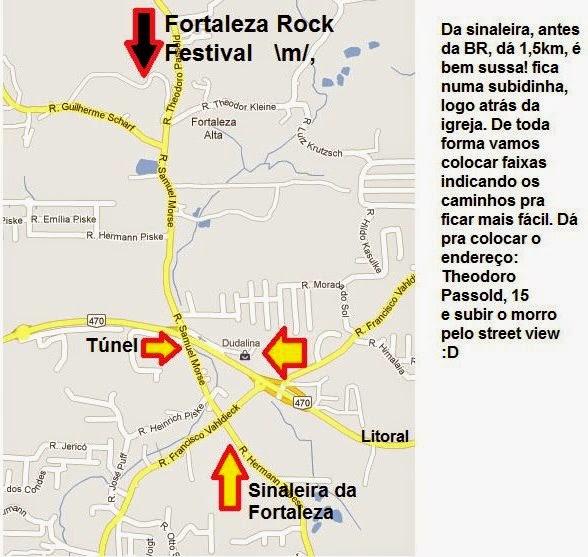 Como chegar ao Fortaleza Rock Festival