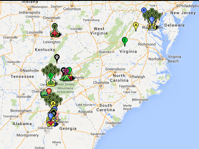 Nerdovore Map of the Walking Dead Locations