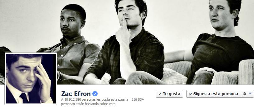 Facebook Oficial de Zac Efron