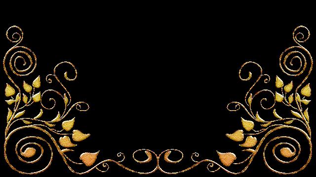 Molduras arabescos dourados 30 png
