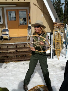 Primitive snowshoe show-and-tell with Ranger Christine