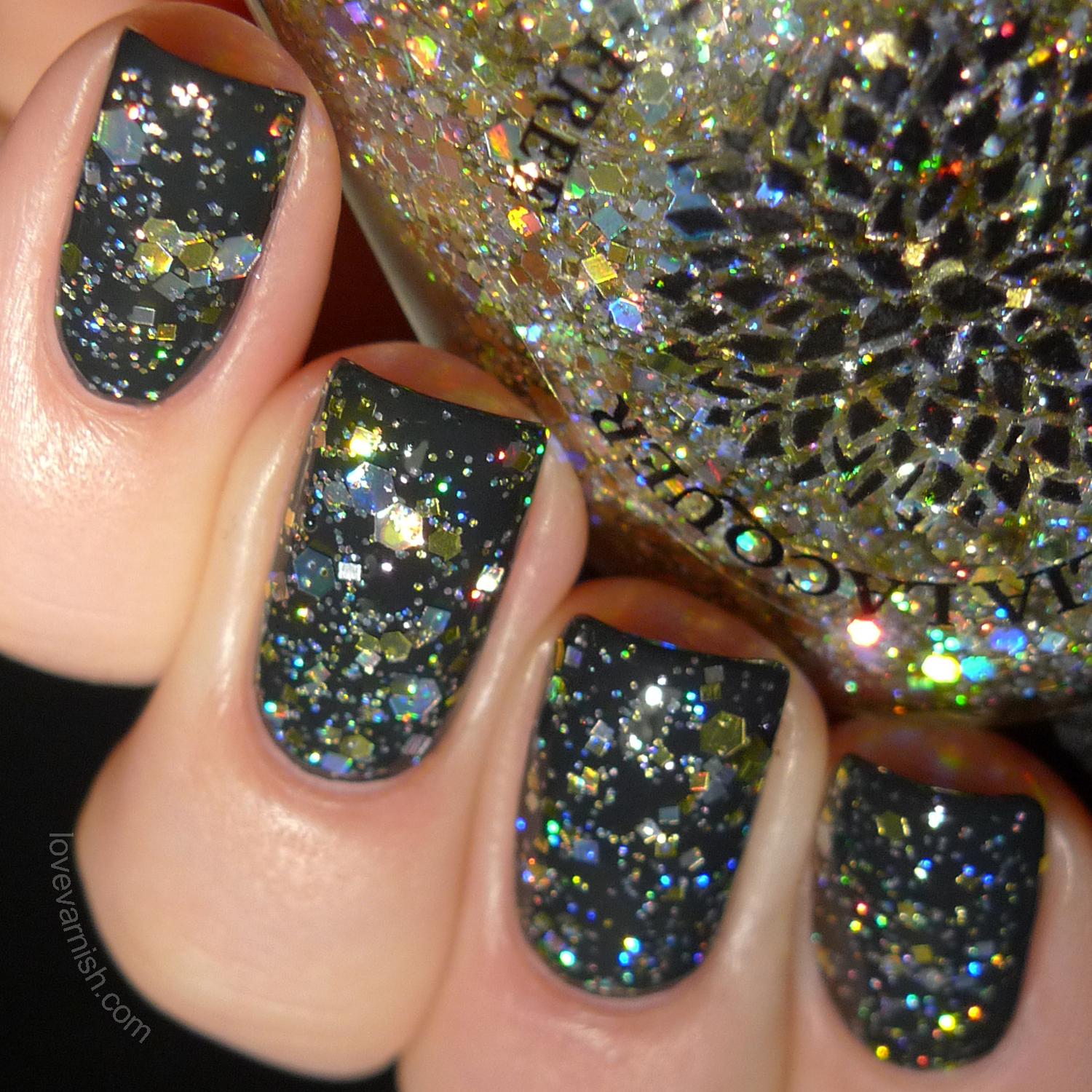 Black Dahlia Lacquer Basket of Gold