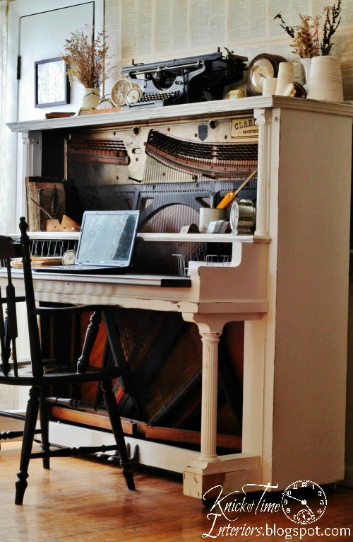 How to Turn an Antique Piano into an Amazing Desk! - Knick ...