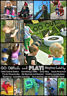 early childhood outdoor play ideas and blog hop